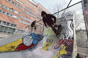 Le skatepark du quai de Jemmapes.