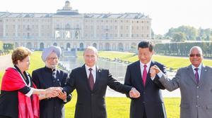 Poutine et les leaders des BRICS en 2013.