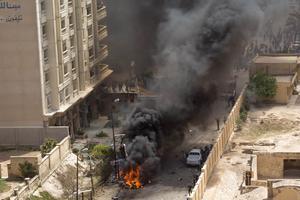 Attentat à la bombe à Alexandrie, deux jours avant le début des élections.
