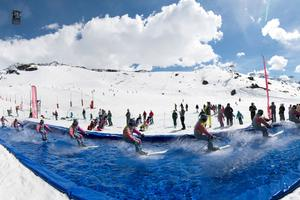 Water slide à Val-Thorens