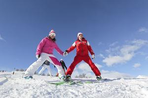 Premier chasse-neige avec l'ESF de La Clusaz