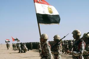 Des troupes de la coalition pendant la guerre du Golfe.