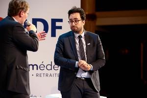 Mounir Mahjoubi <i>(à droite)</i> a fixé le cap et livré les ambitions du gouvernement en matière de numérique.
