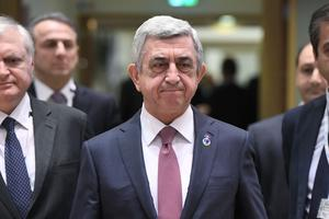 Serge Sarkissian à Bruxelles, le 24 novembre