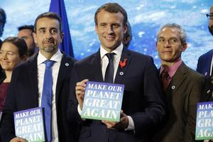 Emmanuel Macron, en décembre 2017 au One planet summit.
