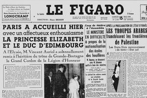 Une du Figaro du 15 mai 1948