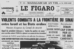 Une du Figaro du mardi 6 juin 1967.