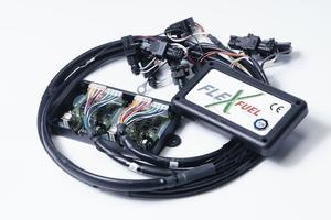 Le montage du kit prend de deux à trois heures, selon le modèle (ici le kit Flexfuel).