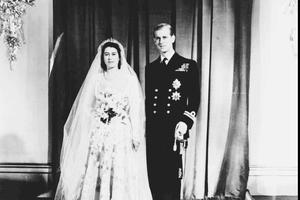 Elisabeth et Philip lors de leur mariage en 1947.