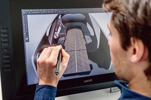 Des ingénieurs travaillent au design et au maquettage physique de la EZ-GO de Renault.