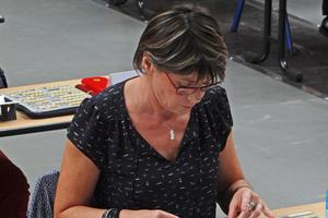 Dominique Mathiotte, en pleine concentration au Festival de la Rochelle.