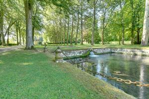 Le parc du château de Courances (91).