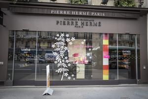 La boutique Pierre Hermé Opéra, à Paris (IIe).