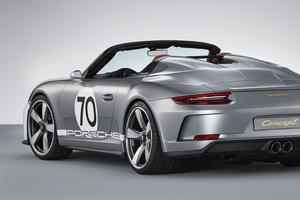Le Speedster 2018 emprunte ses jantes de 21 pouces à écrou central à la GT3.