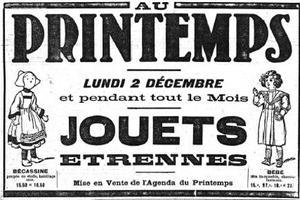 Publicité pour la poupée Bécassine parue dans «Le Figaro» du 1er décembre 1918.