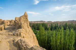 Chine - Xinjiang Turfan oasis