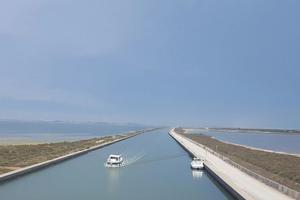 Le canal de Rhône à Sète.