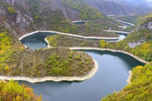 Les méandres de la rivière Uvac.
