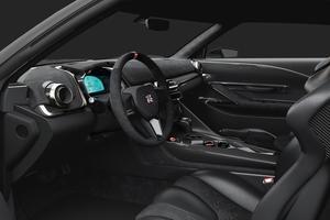 Les boutons et l'instrumentation semblent sortis du cockpit d'une voiture de course.