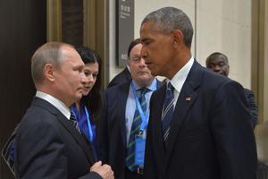 Vladimir Poutine et Barack Obama en 2016.