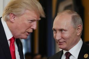 Vladimir Poutine et Donald Trump en 2017.