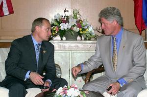 Vladimir Poutine et Bill Clinton en 2000