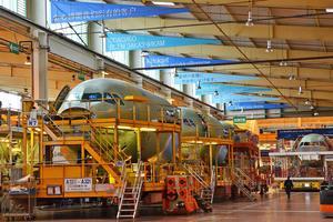 Les usines Airbus de Saint-Nazaire.