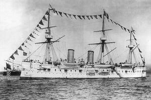 Le croiseur russe Dmitri Donskoï.