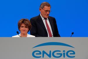 Isabelle Kocher et Gérard Mestrallet, lors de l'assemblée générale de mai.