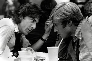 Avec Dustin Hoffman dans «Les Hommes du président», en 1976.