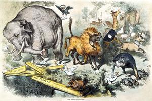 Caricature de l'artiste Thomas Nast.