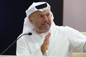 Le ministre d'État émirati aux Affaires étrangères Anwar Gargash.