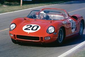 La Ferrari durant l'épreuve du Mans 1964 qu'elle a remportée.