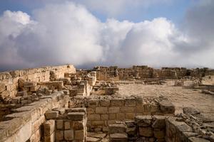 Site sacré samaritain sur le mont Garizim. Ces ruines sont les vestigues du grand temple religieux samaritain datant de -330.