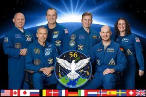 L'équipage à bord de l'ISS en ce moment.