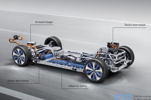 L'EQC installe le pack de batterie dans une structure sous le plancher.
