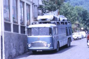 Le Fiat à l'époque des coupés Cobra Daytona.
