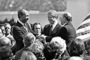 Signature du Traité de paix israélo-égyptien à Washington le 26 mars 1979.
