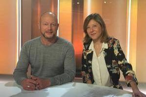 Bénédicte Menu (à droite) et Jean-Bernard Carillet, co-animateurs de «Terminal F»