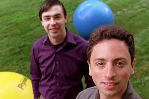 Larry Page (à gauche) et Sergueï Brin, cofondateurs de Google