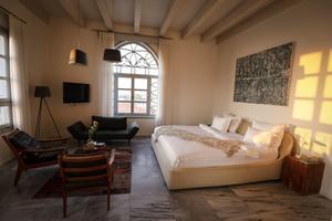 Une chambre de l'Effendi, boutique-hôtel situé à Acre.