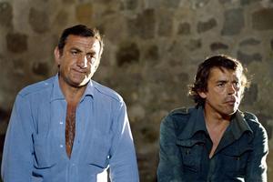 Lino Ventura et Jacques Brel en 1972 dans le film «L'aventure c'est l'aventure» de Claude Lelouch.