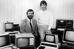 Paul Allen et Bill Gates aux débuts de Microsoft.