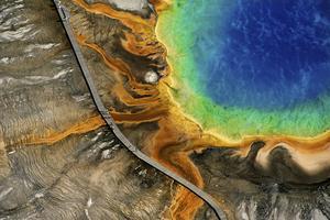 Un des paysages magnifiés par Yann Arthus-Bertrand (Yellowstone National Park, Wyoming, États-Unis)
