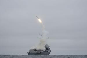 Missile Tomahawk américain.