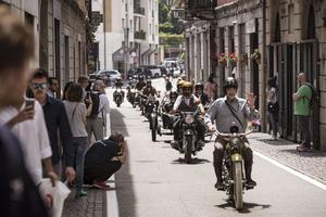 Les motos anciennes vont parader dans les rues de Cernobbio en Italie, à l'occasion du concours.