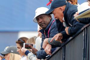 Michael Jordan, fan de golf, assistait à la Ryder Cup en France, en septembre.