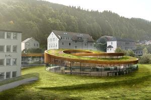 Projection du futur musée Audemars Piguet au Brassus, en vallée de Joux, dont l'ouverture est prévue au printemps 2019.