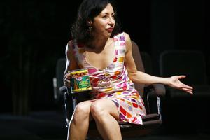 Yasmina Reza en 2016 dans «La luge d'Arthur Schopenhauer».