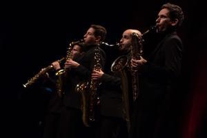 Les quatre jeunes musiciens du quatuor Zahir, issus du Conservatoire de Pairs, ont interprété, notamment, des transcriptions d'oeuvres de Debussy et Gabriel Pierné.